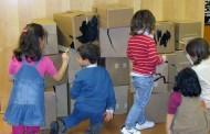 Creando con cartón en los talleres Vivanco