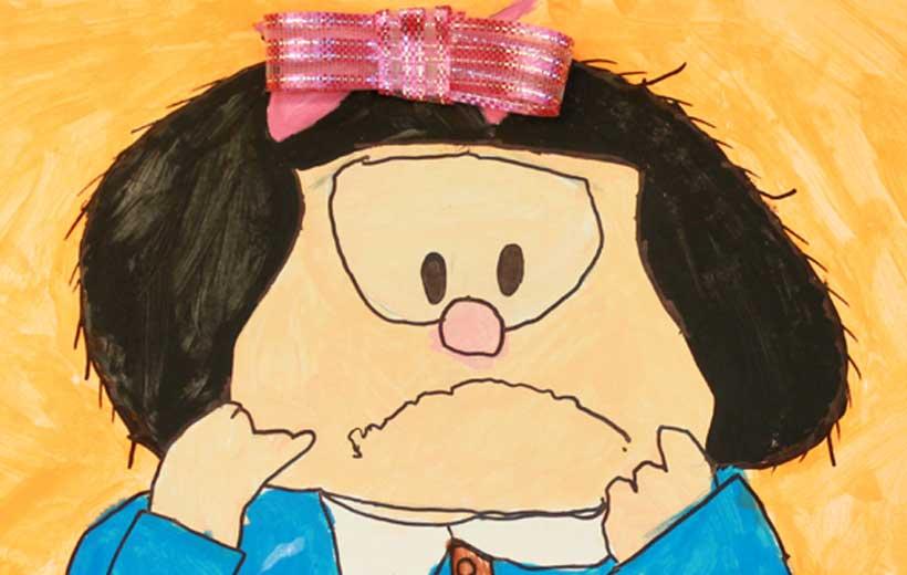 Exposición sobre Mafalda en Pigmento
