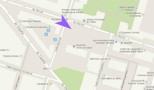 Mapa Alhondiga Logroño