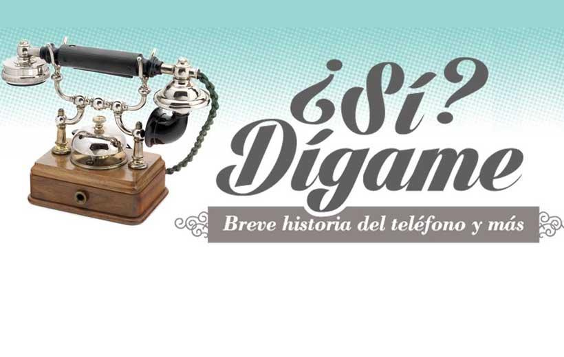 Exposición sobre la historia del teléfono