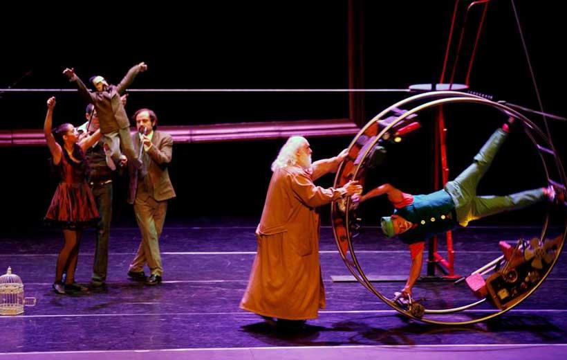 Viaje a la Luna, espectáculo circense en Arnedo