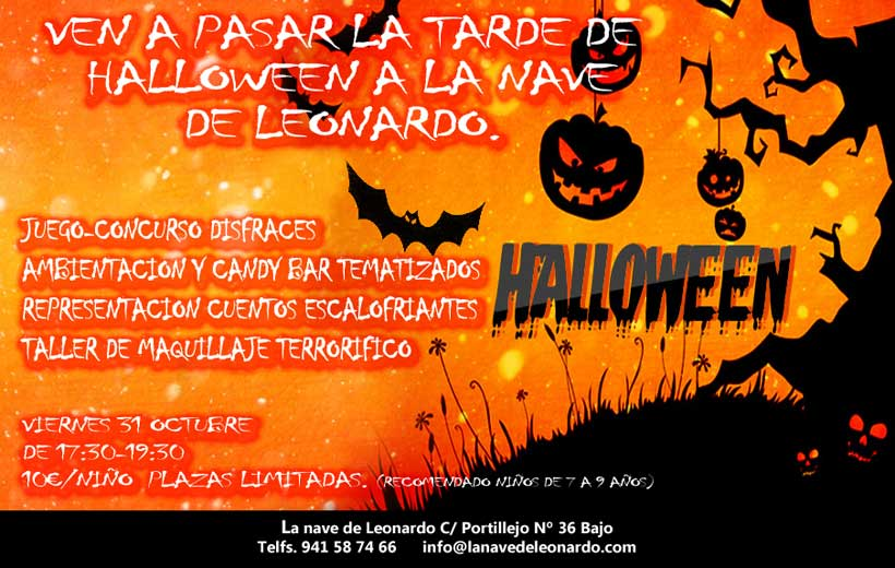 Fiesta de Halloween en La Nave de Leonardo