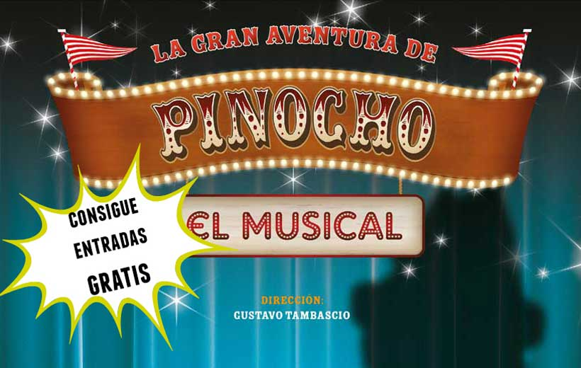 Ganadores entradas para el musical de Pinocho
