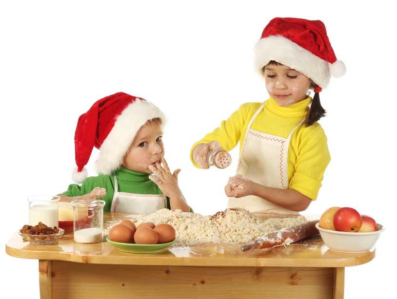 Talleres infantiles de postres navideños en la Biotienda
