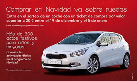 La campaña comercial 'Logroño es Navidad' sortea un coche