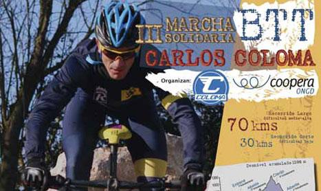 III Marcha Solidaria BTT Carlos Coloma con Coopera