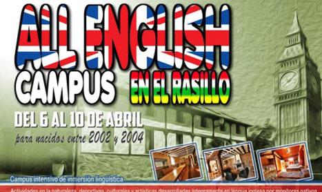 Campamento de inmersión en inglés en El Rasillo