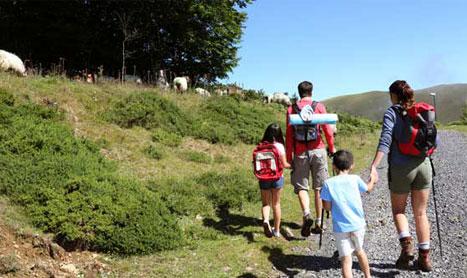 Paseo guiado con niños en Cebollera