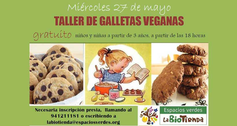 Taller familiar de galletas veganas, gratuito