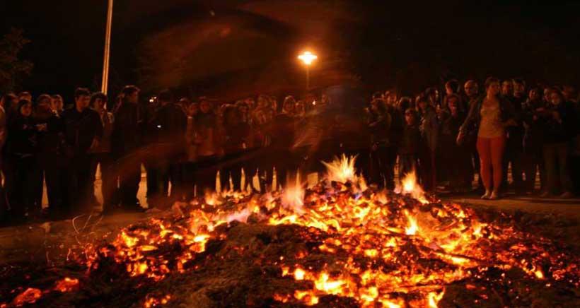 Hogueras de San Juan en Logroño