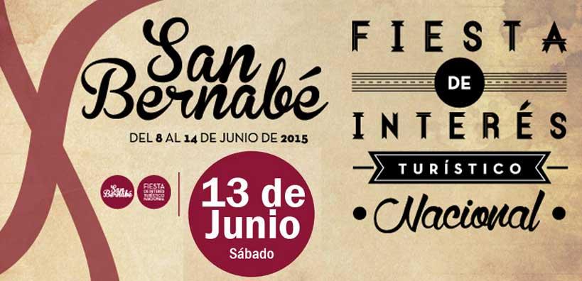 Programación San Bernabé: sábado, 13 de junio