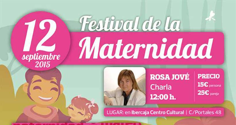 La psicóloga Rosa Jové, en el Festival de la Maternidad 2015
