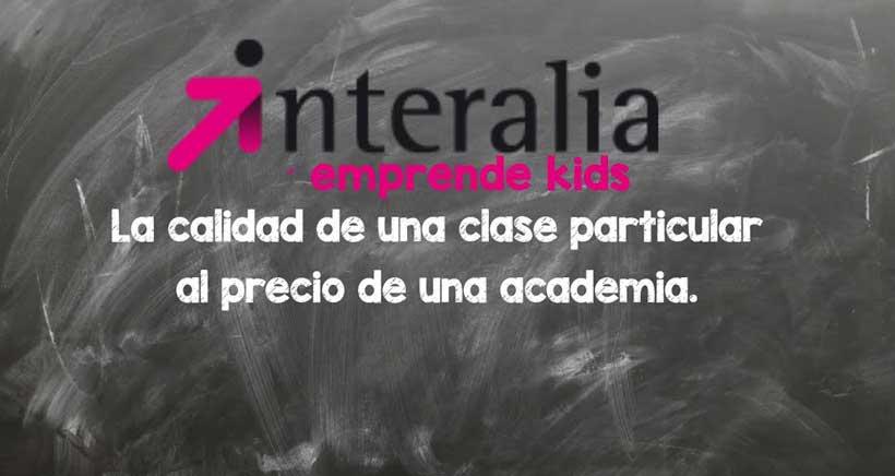 ¿Apoyo con los deberes? Matrícula abierta en Interalia Emprende Kids