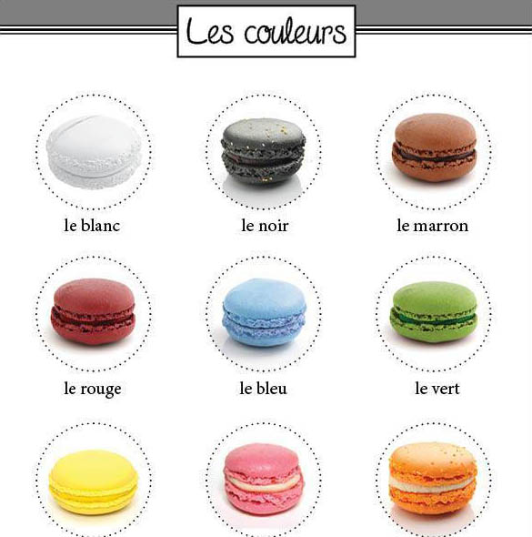 macarons colores