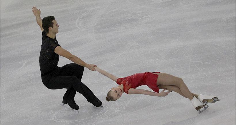 Prueba internacional de patinaje artístico júnior en Lobete