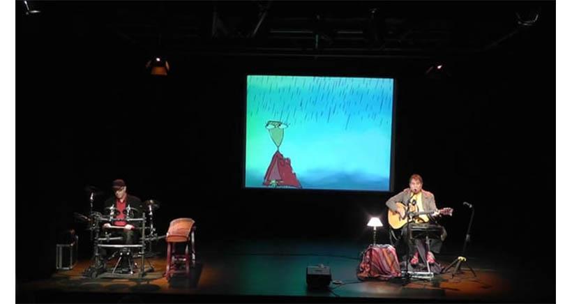Teatro con dibujos animados y música en vivo