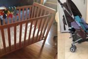 Se vende: cunas, silla de paseo y mueble cambiador