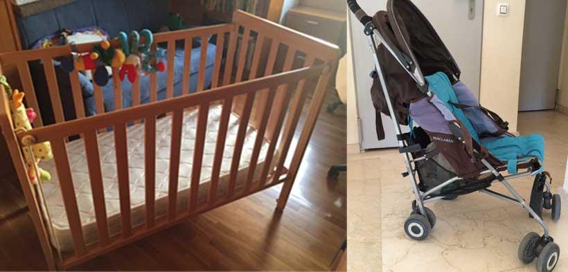 Se vende: cunas, silla de paseo y mueble cambiador - El Balcón de Mateo