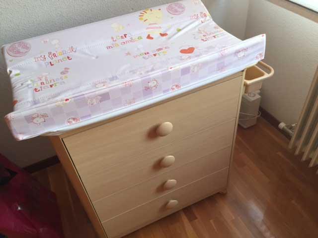 Se vende cunas silla de paseo y mueble cambiador el for Mueble cambiador bebe barato