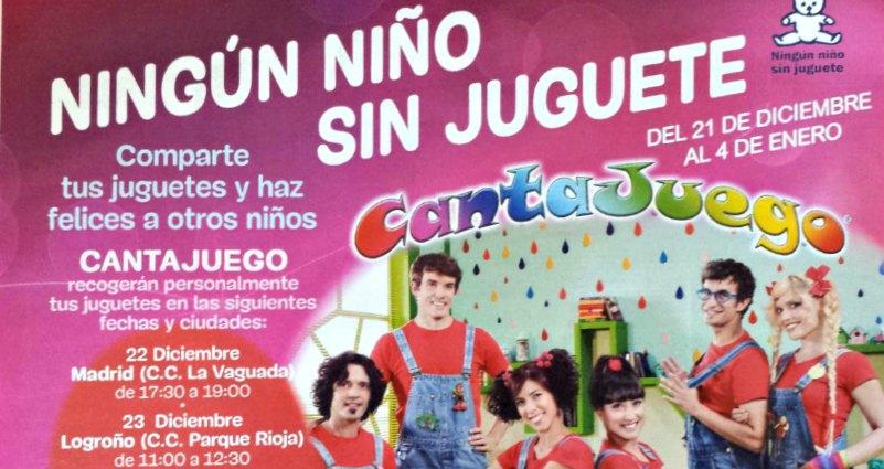 Los Cantajuego recogen juguetes en Parque Rioja