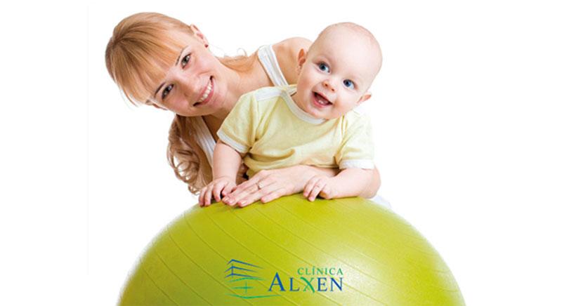 Gimnasia para bebés en Clínica Alxen