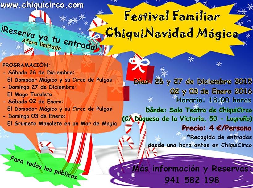 Los fines de semana de Navidad, magia en ChiquiCirco