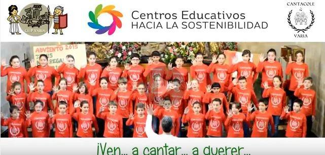 Los alumnos del CEIP Varia cantan por el planeta (vídeo)