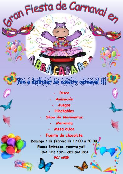 Cartel fiesta carnaval Abracadabra