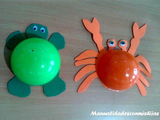 Manualidadesconmishijas tortuga y cangrejo 3