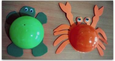 Manualidadesconmishijas tortuga y cangrejo