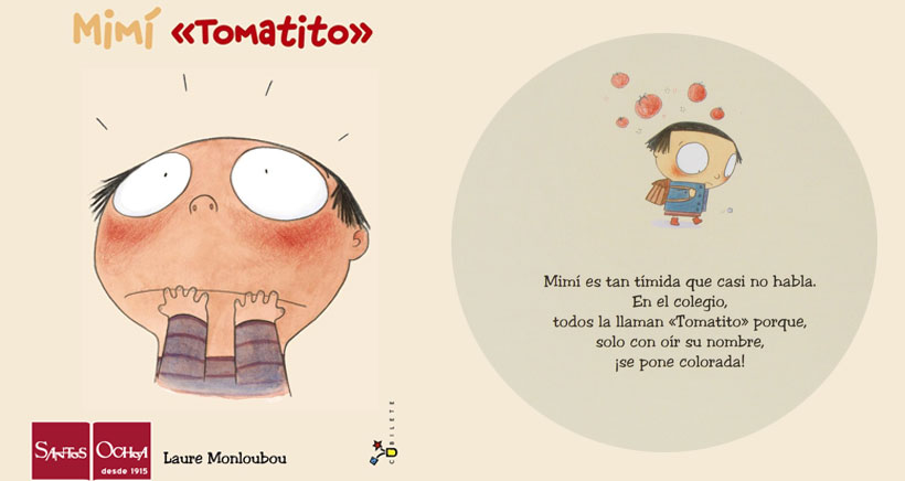 Mimí Tomatito, un cuento para trabajar la vergüenza y la timidez de los niños