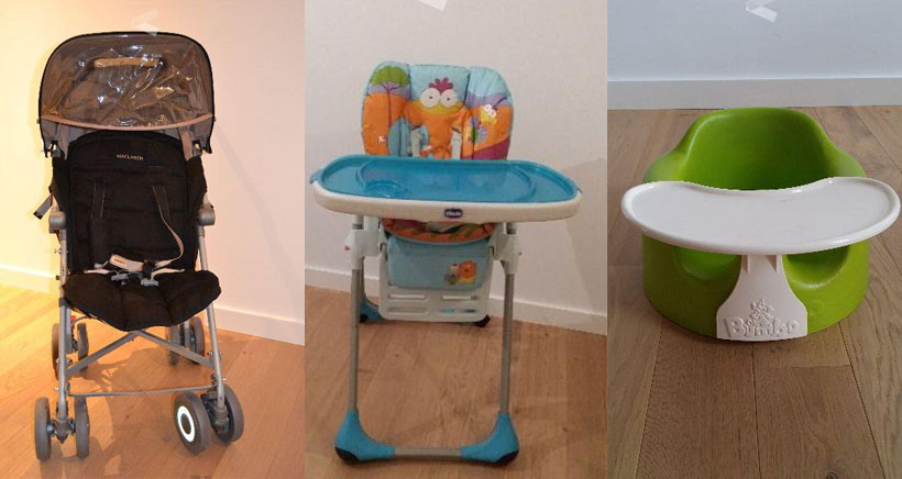 Se vende: silla Mac Laren, trona y asiento 'Bumbo'