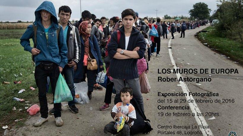 'Los muros de Europa', exposición de fotografía sobre los refugiados sirios