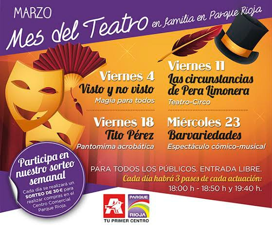 Marzo, mes del teatro en familia Parque Rioja