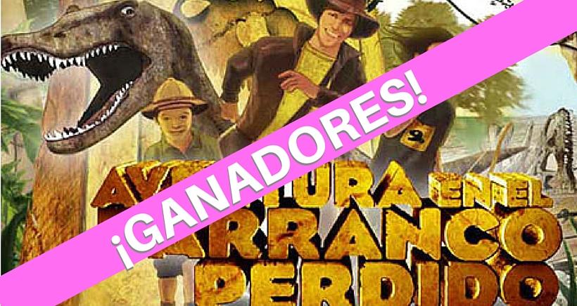 Ganadores del sorteo de entradas para El Barranco Perdido