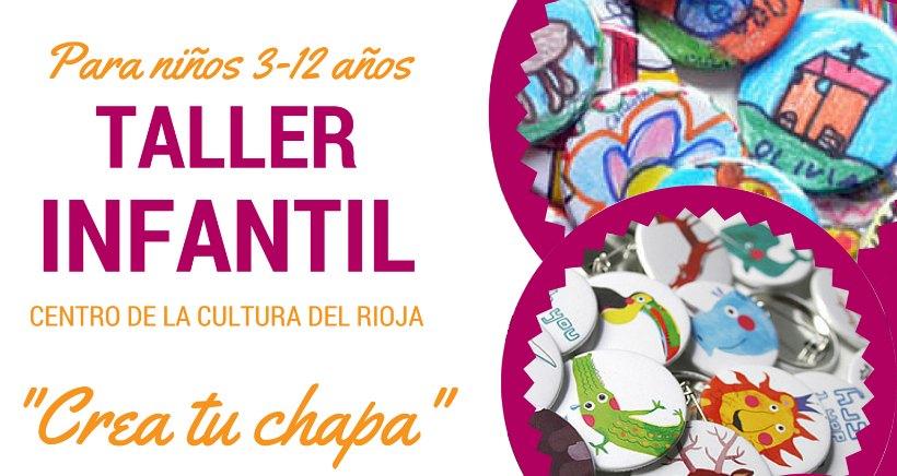Taller infantil de chapas en el Centro de la Cultura del Rioja