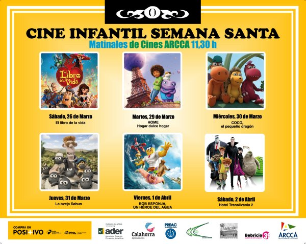 matinales cine infantil en Semana Santa