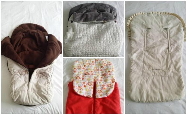 Se vende: sacos de invierno y verano para cochecito de bebé
