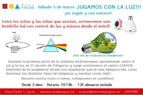 taller sobre la luz en El Secreto de Pitagoras