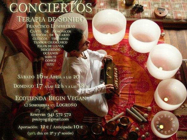 Cuencos tibetanos concierto Logrono