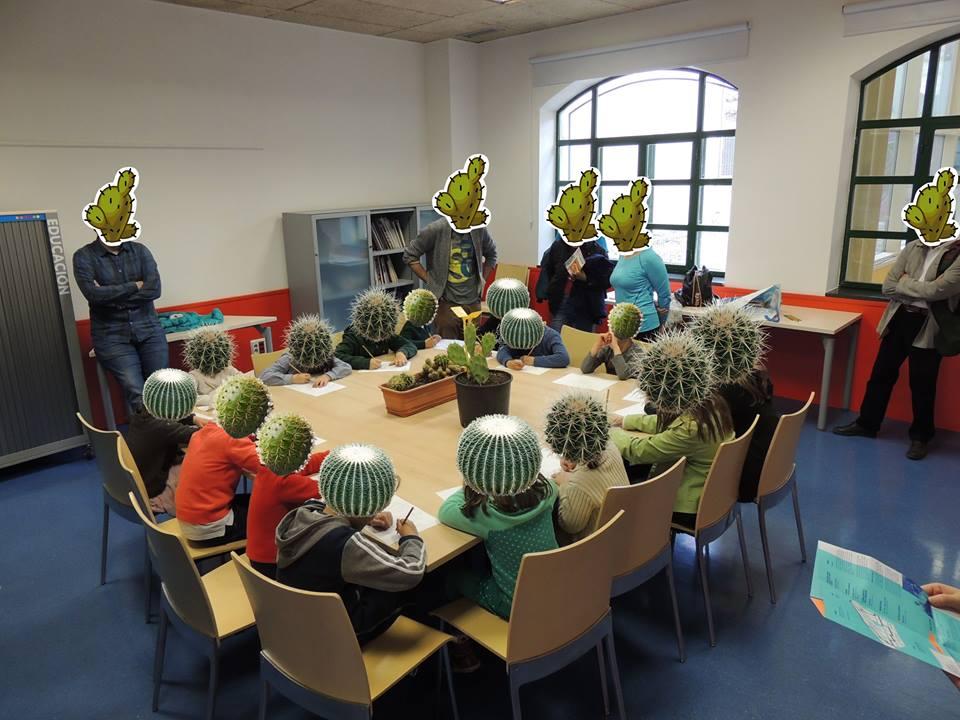Taller infantil con cactus en el 'Cactus Day', de Logroño