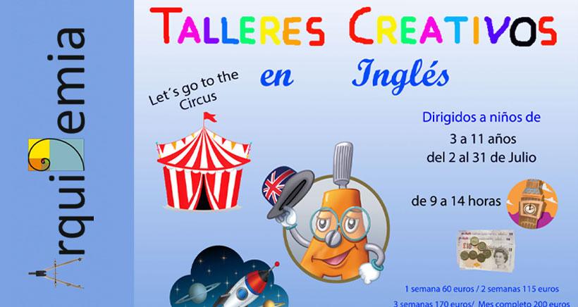 Talleres creativos en inglés este verano en Lardero