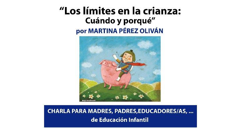 """""""Los límites en la crianza"""", charla con la pedagoga Martina Pérez"""