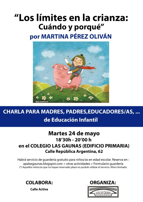 Charla pedagoga Martina Perez colegio Las Gaunas
