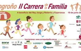 Segunda edición de la Carrera de la Familia en Logroño, que une deporte y solidaridad