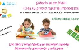 Taller infantil: crea tu propio material Montessori, en Pitágoras