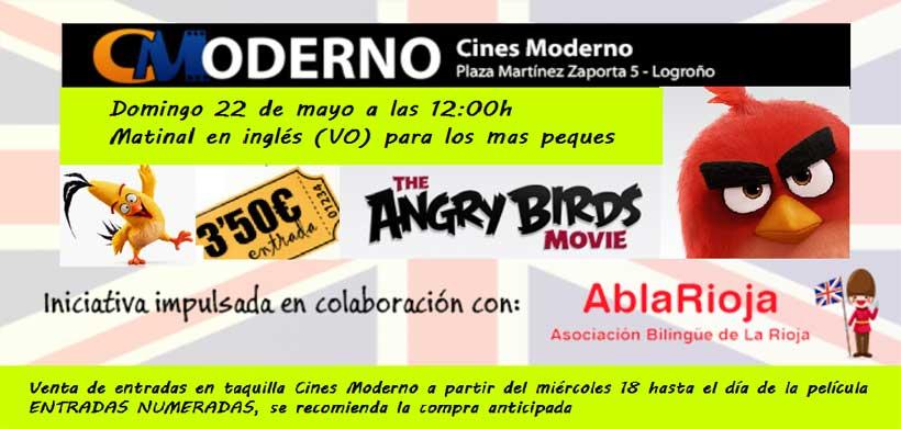 Cine infantil en versión original: este domingo, 'Angry Birds' en inglés