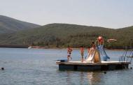 Baño al aire libre en el Pantano de Ortigosa