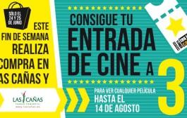 Consigue entradas de cine a 3€ en Las Cañas