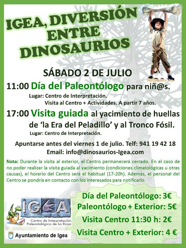 cartel dia del paleontologo